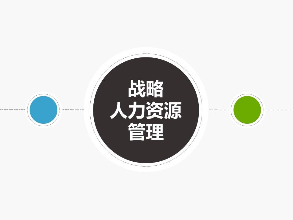 2019企业人力资源部行政管理战略人力资源管理PPT模板