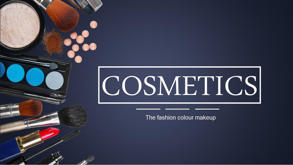化妆服饰美容行业汇报总结产品宣传PPT模板