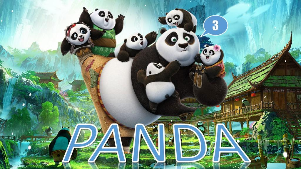 功夫熊猫卡通儿童教育PPT模板